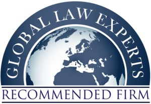Logo der Global Law Experts als Recommended Firm (dt: empfohlene Firma)