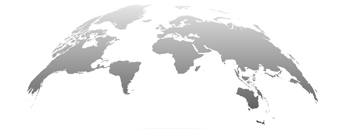 A world map with grey silhouettes. Dr. Hosser, lawyer for international inheritance, supports his clients with international succession planning.